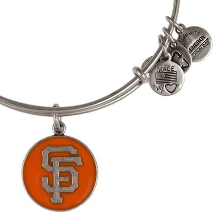 Alex and Ani San Francisco Giants Cap Logo Orange Expandable Wire Bangle Rafaelian Silver