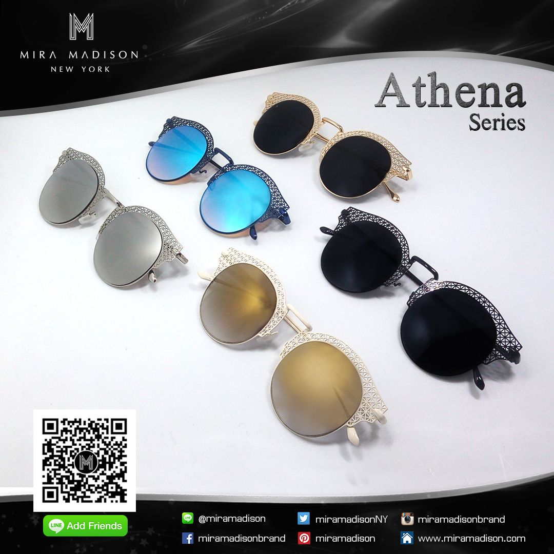 🕶 Sunglasses 🕶  💥Athena Series (รุ่น อะธีน่า) 💥   มีทั้งหมด 5 สี ➣ เลนส์ดำ กรอบทอง (Black Lens Gold Frame) ➣ เลนส์ดำ กรอบดำ (Black Lens Black Frame) ➣ เลนส์ฟ้า กรอบน้ำเงิน (Blue Lens Blue Frame) ➣ เลนส์เงิน กรอบเงิน (Silver Lens Silver Frame) ➣ เลนส์สีเหลืองทอง กรอบขาว (Gold Lens White Frame)