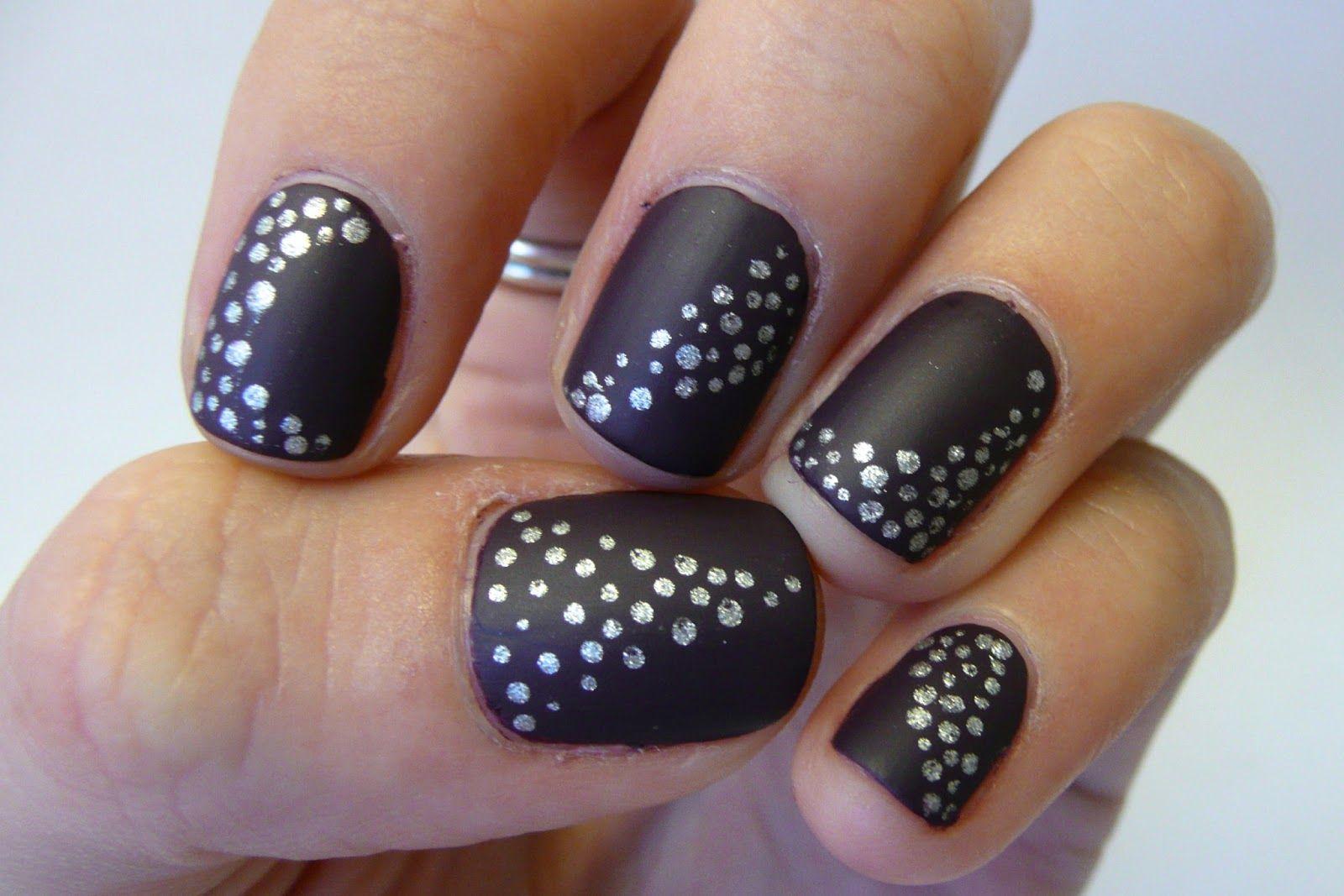 nails-pretty-patterns-try-this-easy-matte-black-nail-polish-design ...