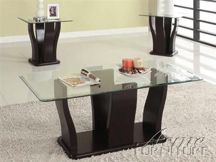 shaker espresso wood glass 3pc coffee end table set coffee table