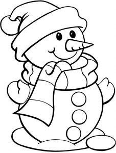 Christmas Pictures To Color For Toddlers