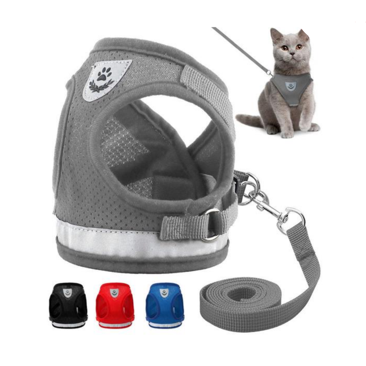 Material Meshcolors Red Blue Blackfeature Reflectivesizes S M L Xl Small Dog Jacket Walking Harness Kitten Clothes