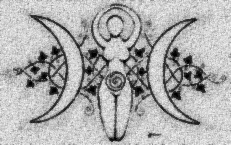 Triple Moon Goddess Moon Tattoo Wiccan Tattoos Goddess Tattoo