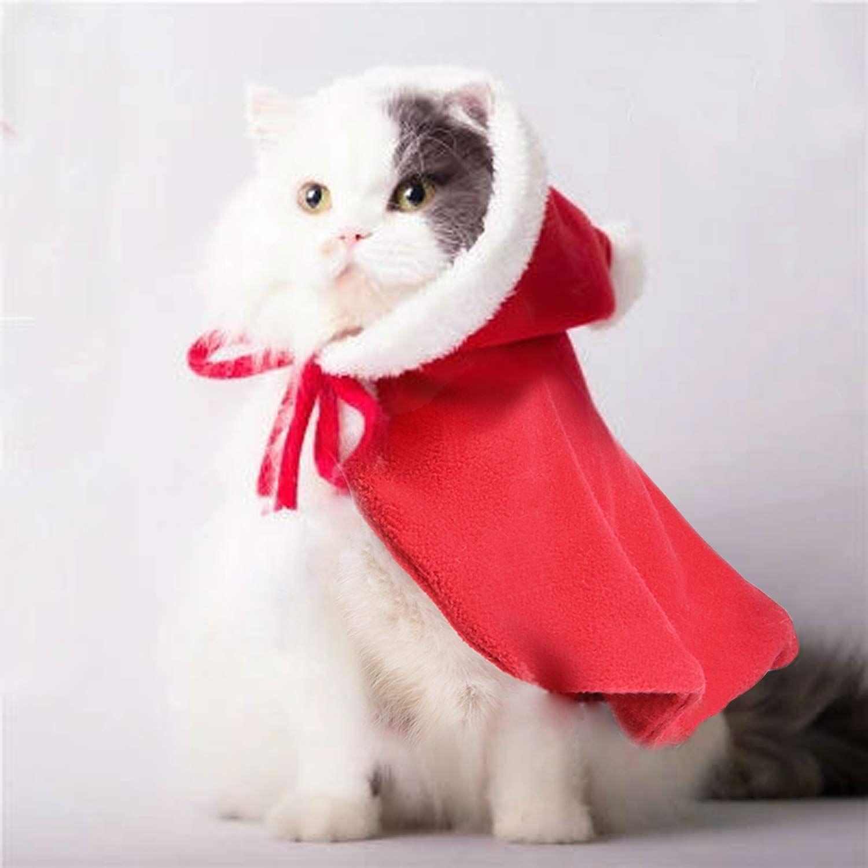 Legendog Cat Costume Pet Christmas Costume Red Velvet Pet