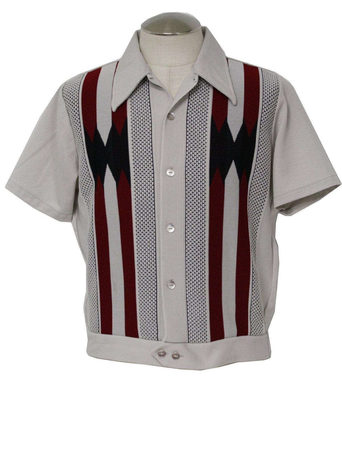 1960s shirts for men   1960 s gaucho mens mod knit shirt ...
