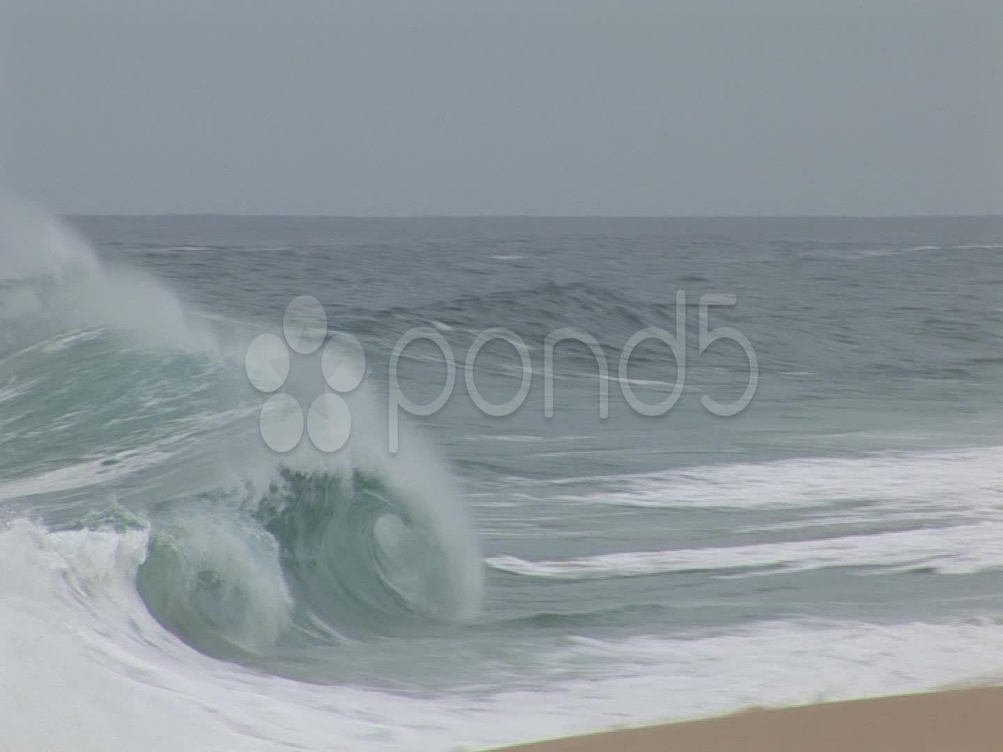 Hurricane Wave Pounds Shoreline Stock Footage Pounds Wave Hurricane Footage Waves Shoreline Stock Footage