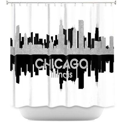 East Urban Home City Iv Chicago Illinois Single Shower Curtain