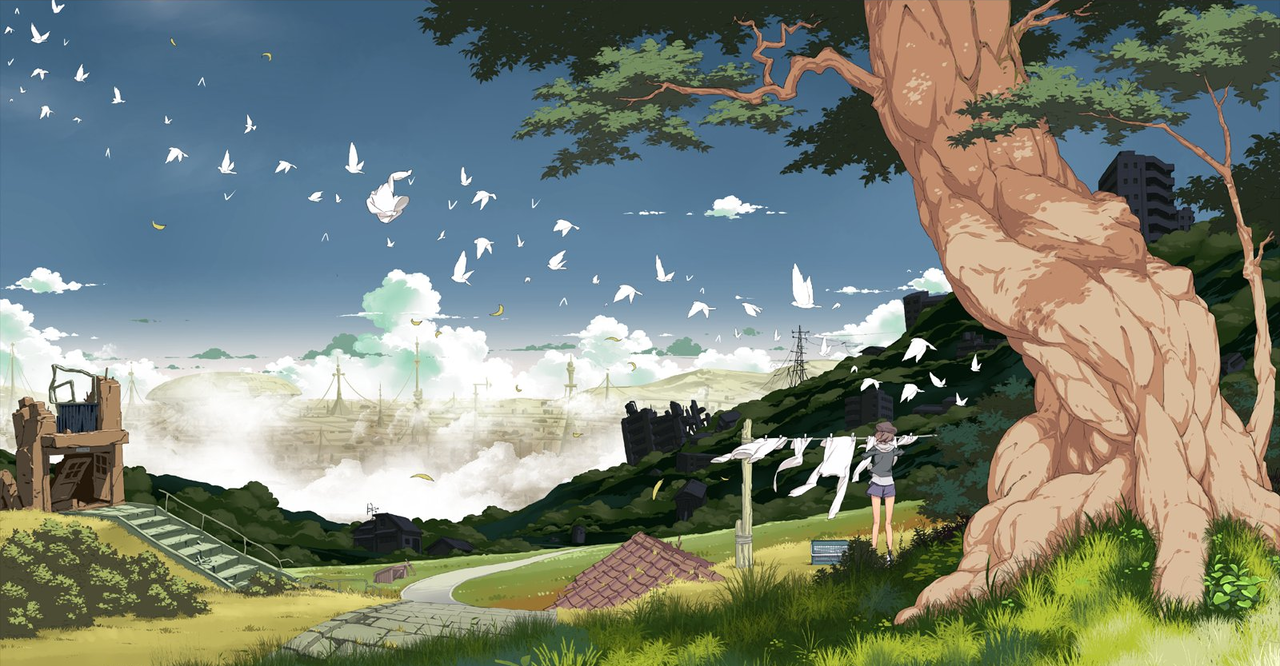 Artsy Anime Aesthetic Wallpaper Desktop