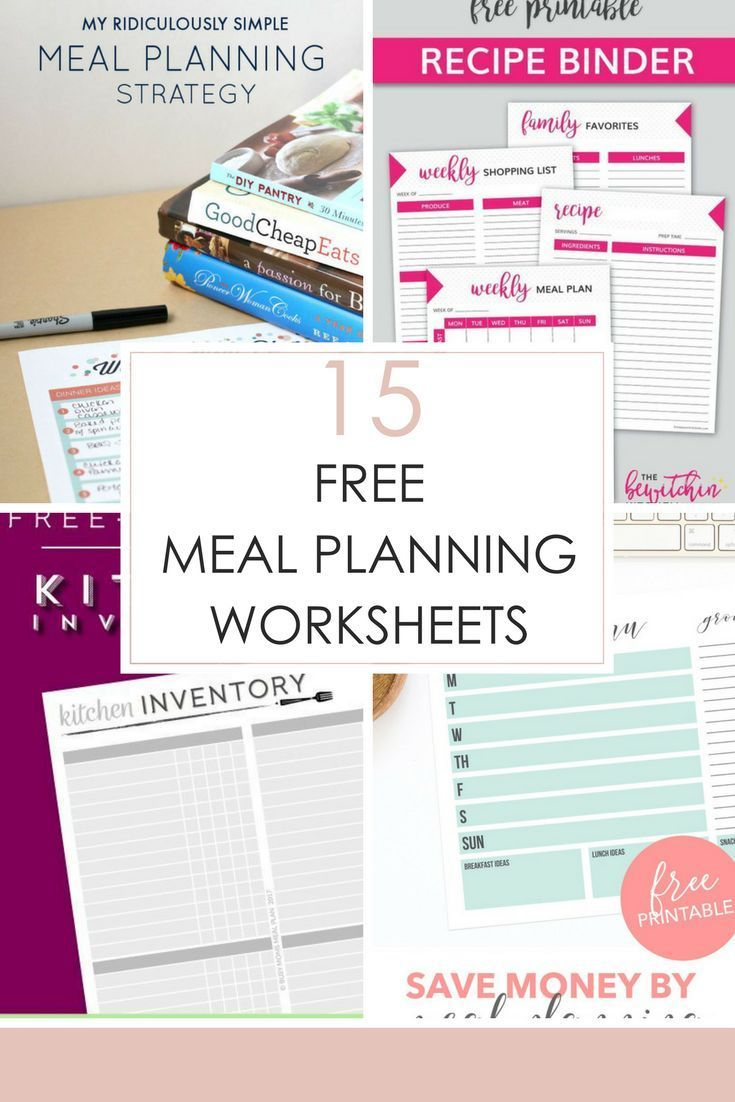 15 Free Meal Planning Worksheets | Meal Planning 101 ...