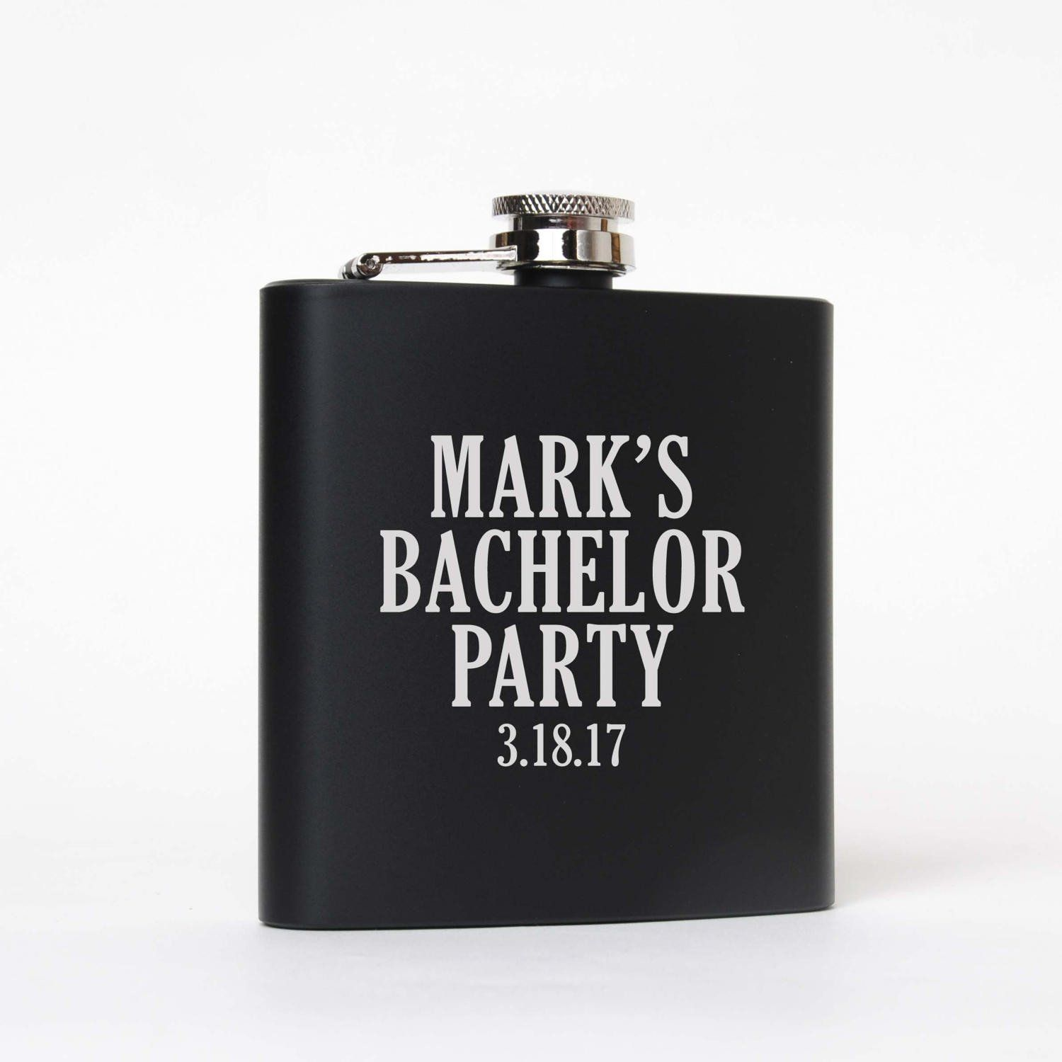 Bachelor party gifts favors supplies personalized black