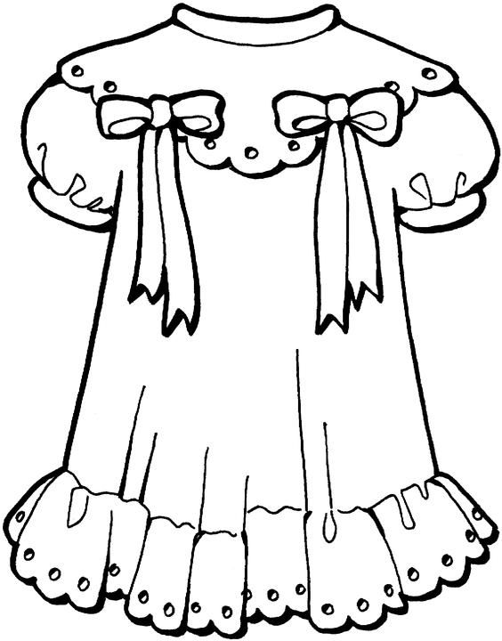 Vestido With Images Coloring Pages