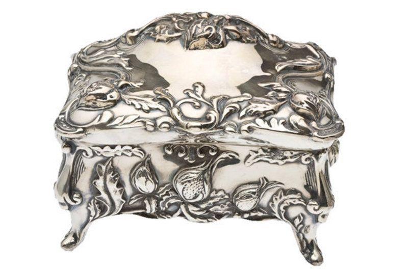 Art Nouveau Silver Plate Jewelry Box Art Nouveau Pinterest Art