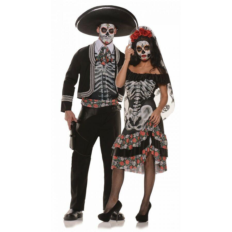 Dia de Los Muertos Costume Adult La Catrina Day of The Dead Halloween Dress