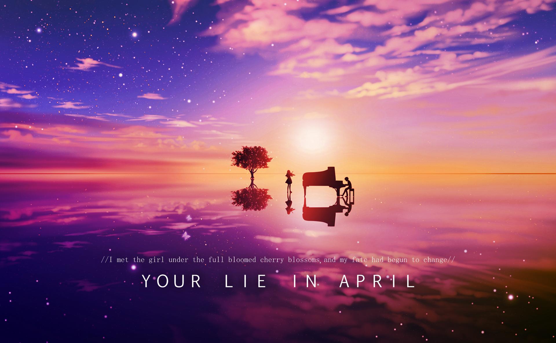 Your Lie In April Kaori/Kousei Sunset Wallpaper by