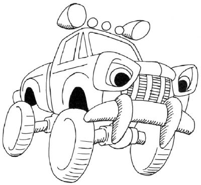 How To Draw A Cartoon Monster Truck In 5 Steps With Images