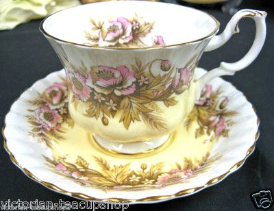 Royal Albert Sonata Melody Series Tea Cup and Saucer