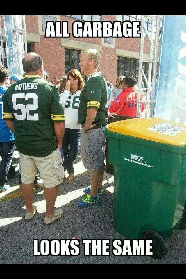 54448f6f04fdd1168f8dd5a9c42c636c trash is trash gay bay packers pinterest packers and memes