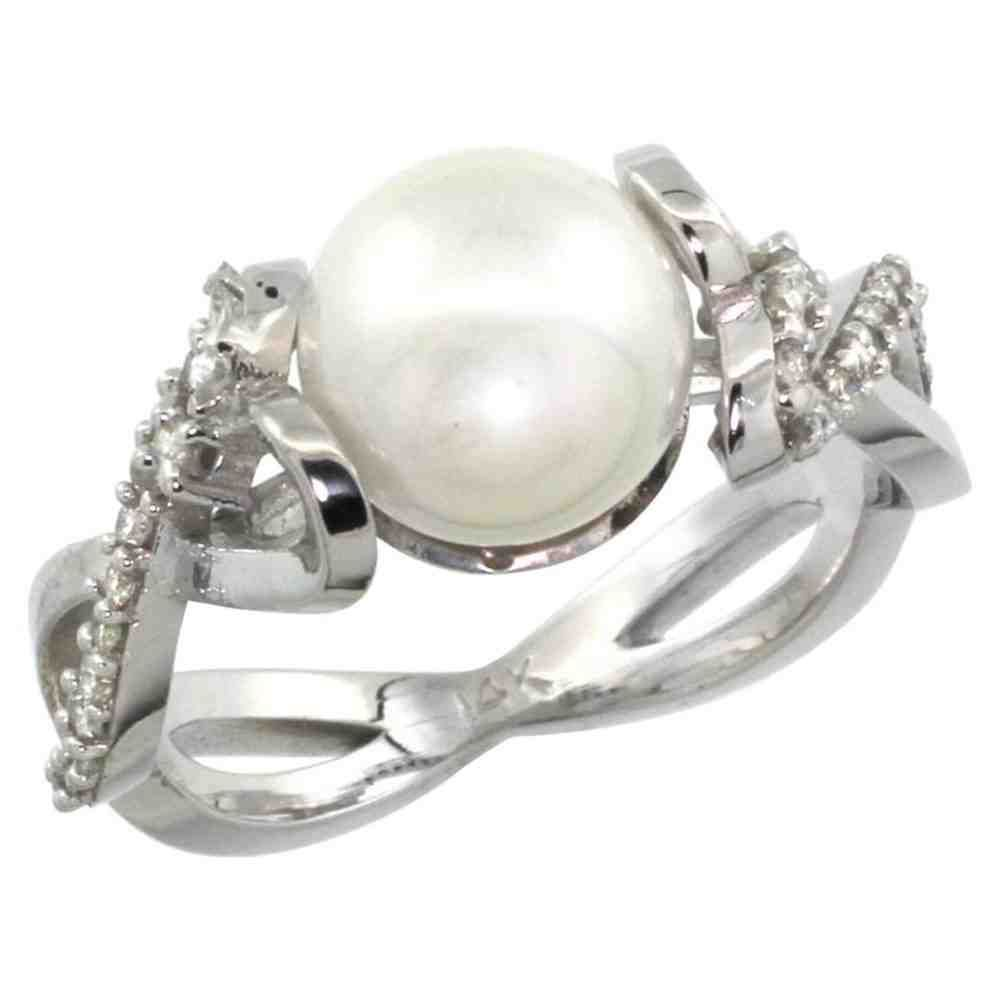 Unique pearl engagement rings awesome rings pinterest pearls