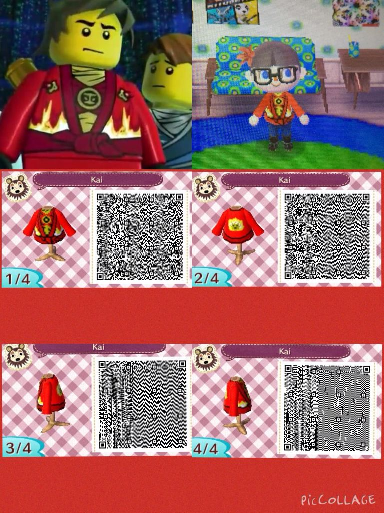 Leather jacket qr code new leaf - Animal Crossing New Leaf Qr Code Of Kai S Suit From The Ninjago Rebooted Season By