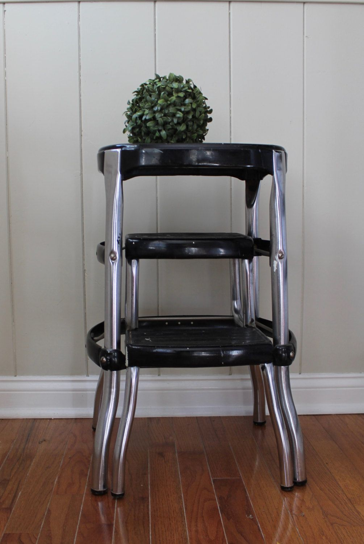 Vintage black cosco step stool // curvy leg stool // cool step stool & Vintage black cosco step stool // curvy leg stool // cool step ... islam-shia.org