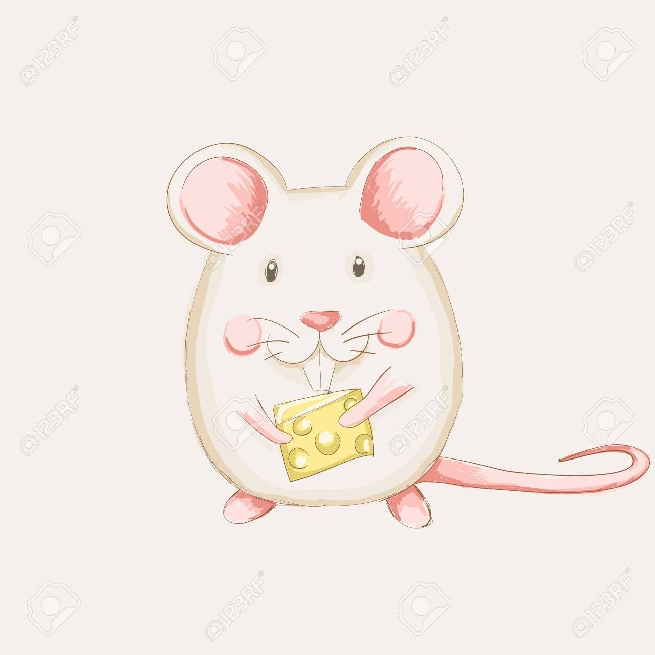 ネズミ かわいい イラスト