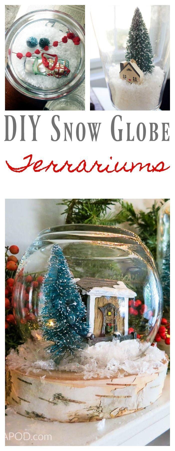 DIY Snow Globe Terrariums Diy snow globe, Snow globes