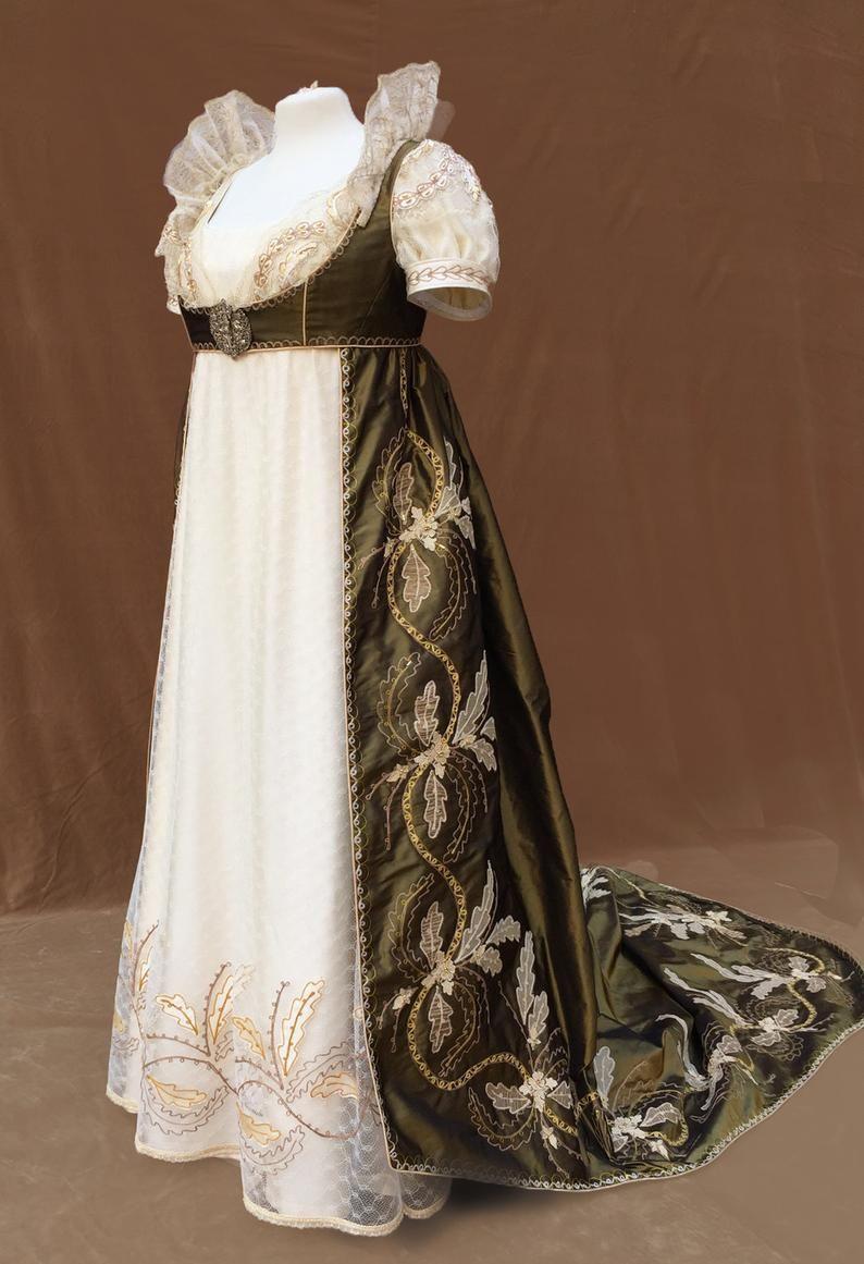 Photo of 1800's regency court dress   Etsy