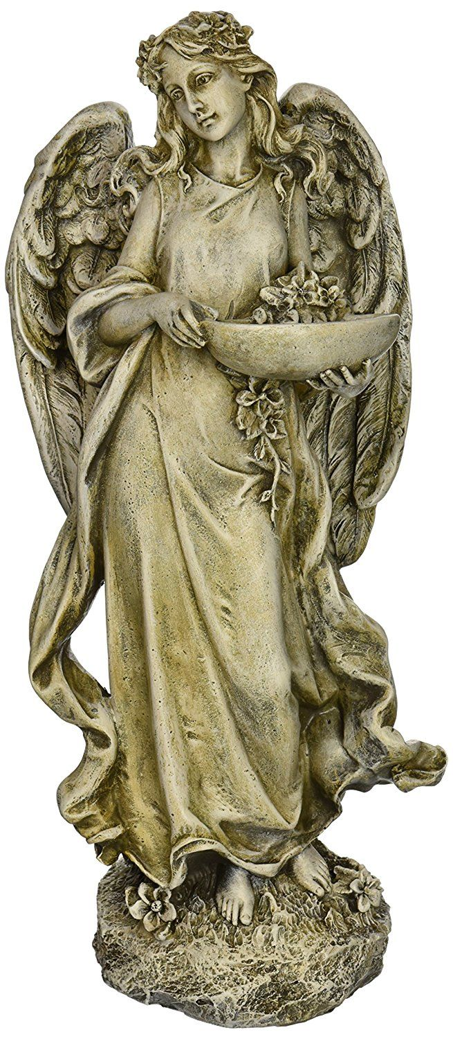 Roman Josephs Studio Inspirational Angel Bird Feeder Outdoor Garden Statue, 15.5-Inch -- New and awesome product awaits you, Read it now  : Garden statues