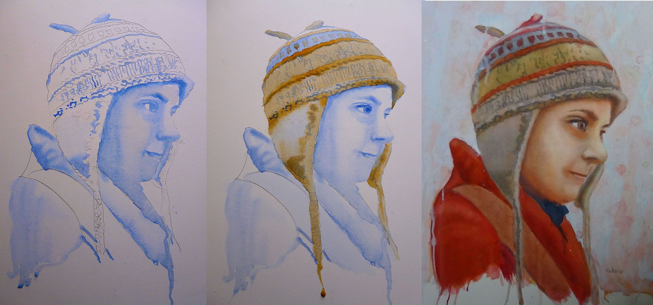 Tales Of A Lucky Hat Watercolor Portrait Painting Demonstration