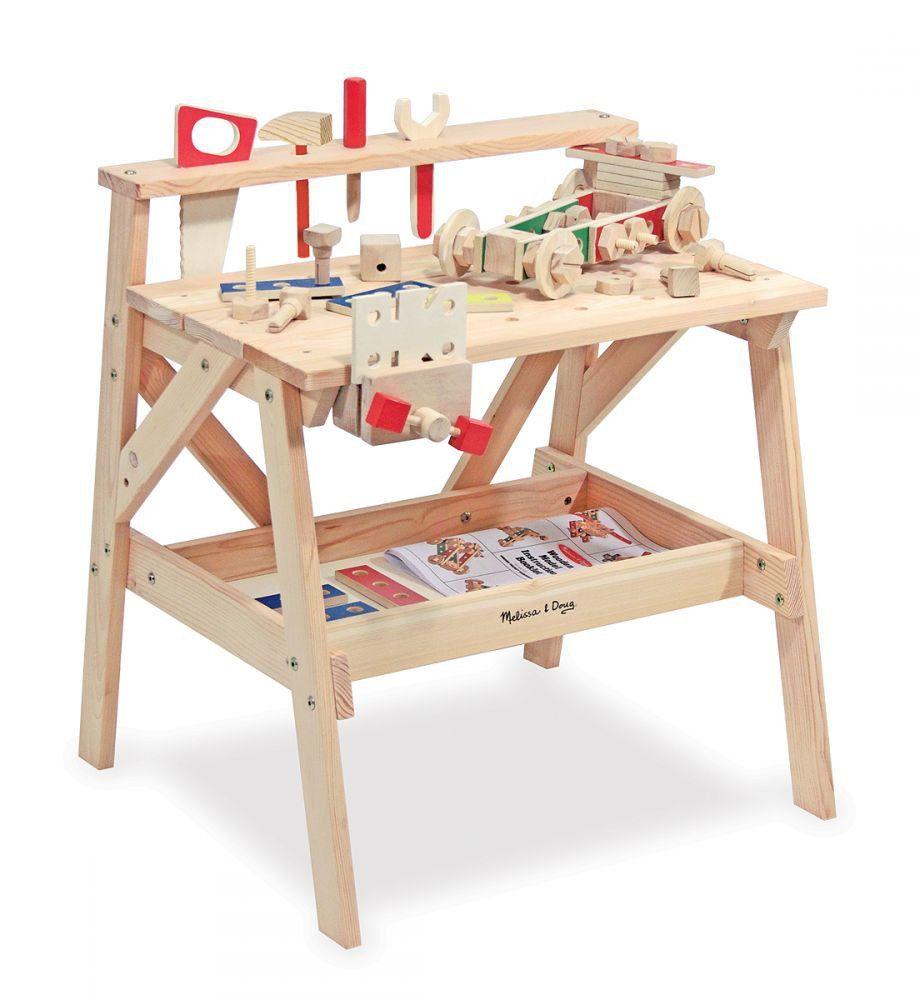 Duzy Warsztat Drewniany I Zestaw Konstrukcyjny 2 W 1 Maly