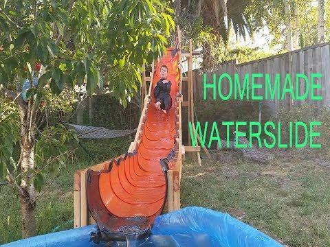 Build A Backyard Theme Park Diy Backyard Amusement Park Rigs Joe Genius Youtube Homemade Water Slide Pool Slide Diy Backyard Water Parks