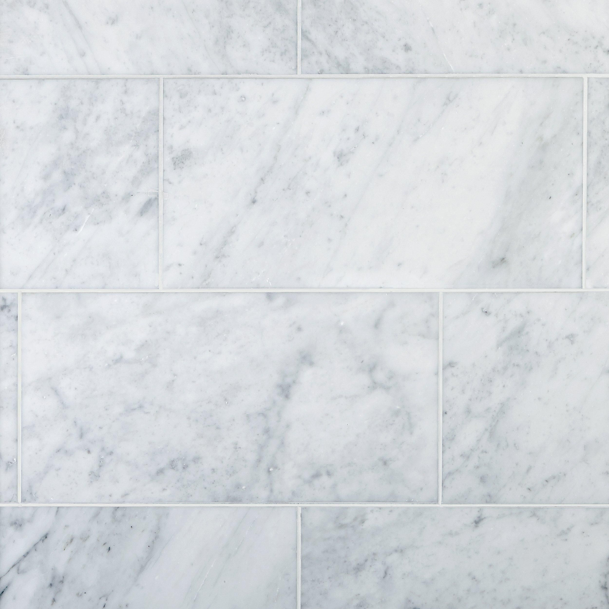 Bianco Carrara Honed Marble Tile In 2020 Honed Marble Tiles Honed Marble Carrara Marble