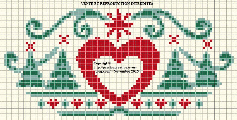 Blog Image De Noel.Grille Gratuite Point De Croix Frise De Noel Coeur Et
