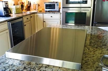 Stainless Steel One Piece Stove Top Cover Stovetopper Kitchen