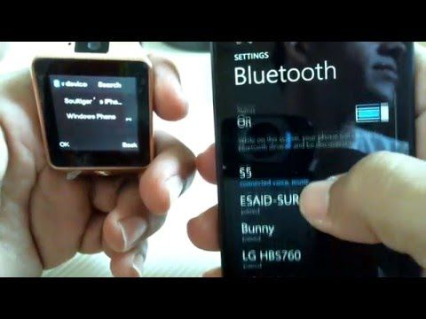How To Pair Dz09 Smart Watch To Nokia Windows Phone Lg Samsung
