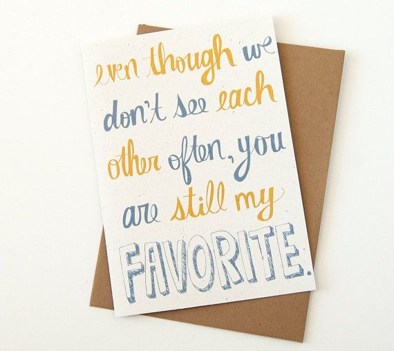 Long Distance Relationship Card - I Miss You Card - Best Friend Card
