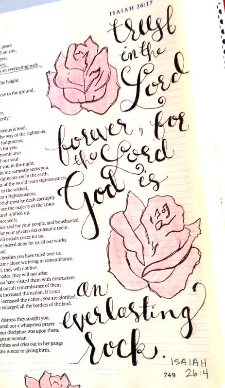 Isaiah 26:4 - - magnolia and magenta   { everlasting rock }
