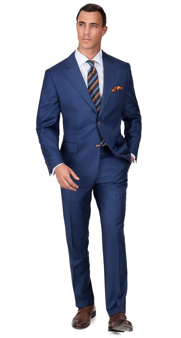 eff6f22f34c01b True Blue Suit | Dress Suits in 2019 | Suits, Mens dress outfits ...