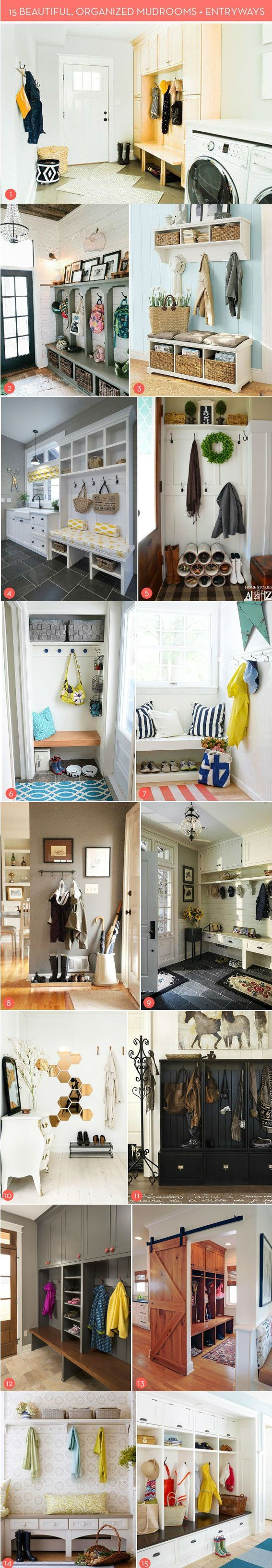 15 Storage and Organization Ideas For Entryways and Mudrooms | http://www.diyideasandcrafts.com/15-storage-and-organization-ideas-for-entryways-and-mudrooms/