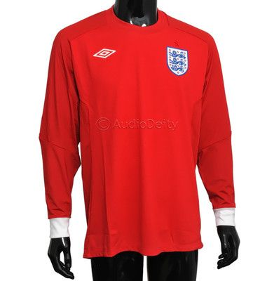 official photos eae2e 6356c Umbro England National Soccer Team Long Sleeve Red Jersey ...