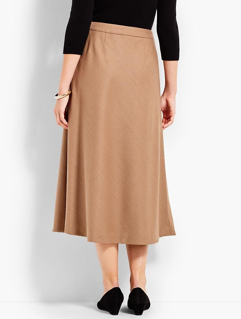 fdbdd1f69ac68 Italian Flannel Faux-Wrap Skirt