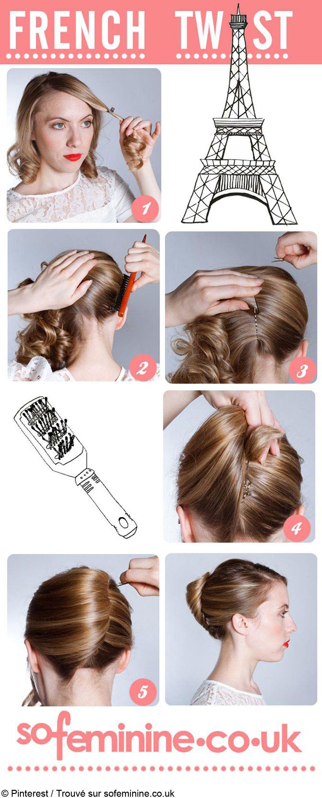 Comment faire un chignon banane hair pinterest hair hair