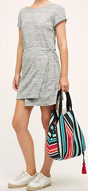 such a cute wrapped tee dress