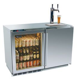 48 perlick signature series refrigerator beer dispenser for Home bar with kegerator space