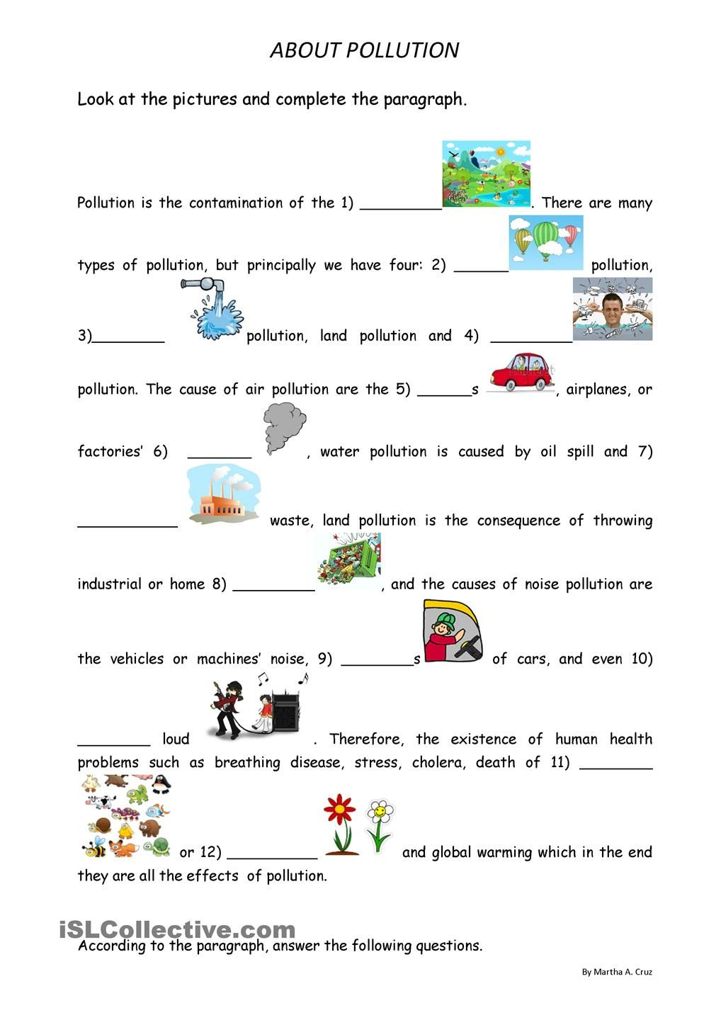 About pollution | pollution | Lesson plans, Health education, How to
