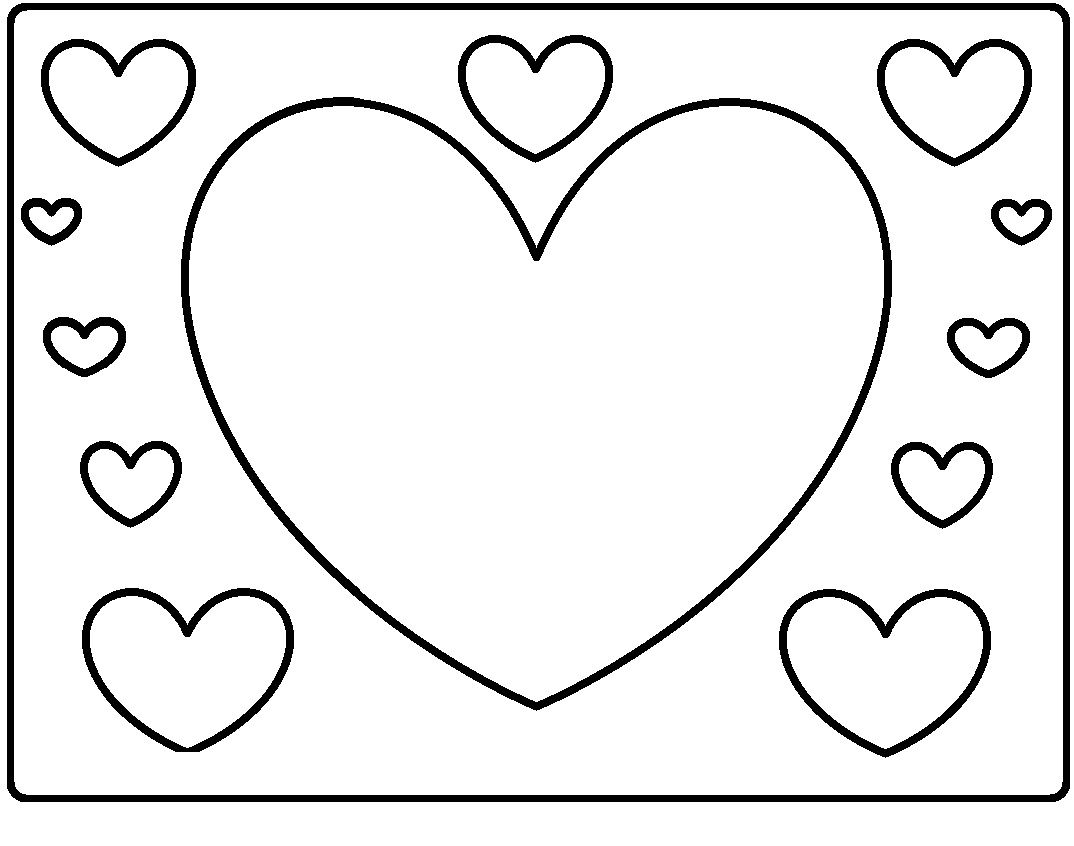 Hearts | Valentines day coloring, Coloring pages, Valentines