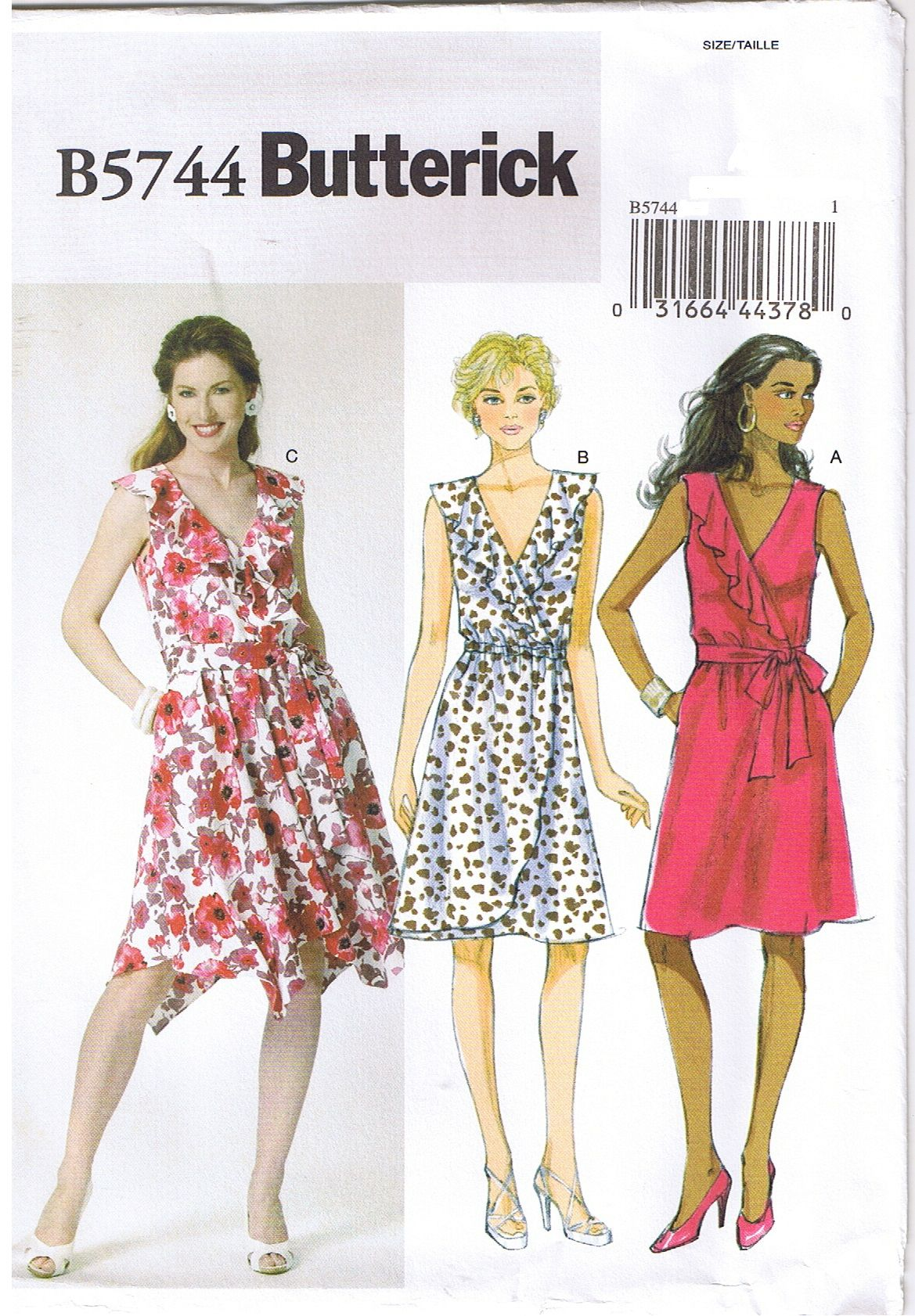 Perfect Summer 2017 Dress. Butterick 5744 Sewing pattern available ...