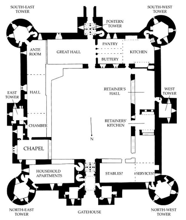Image Result For Castle Building Plans Dibujos De Planos Castillos Castillo Bodiam