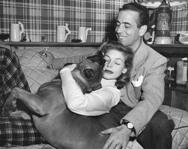 Lauren Bacall, Humphrey Bogart, and Harvey