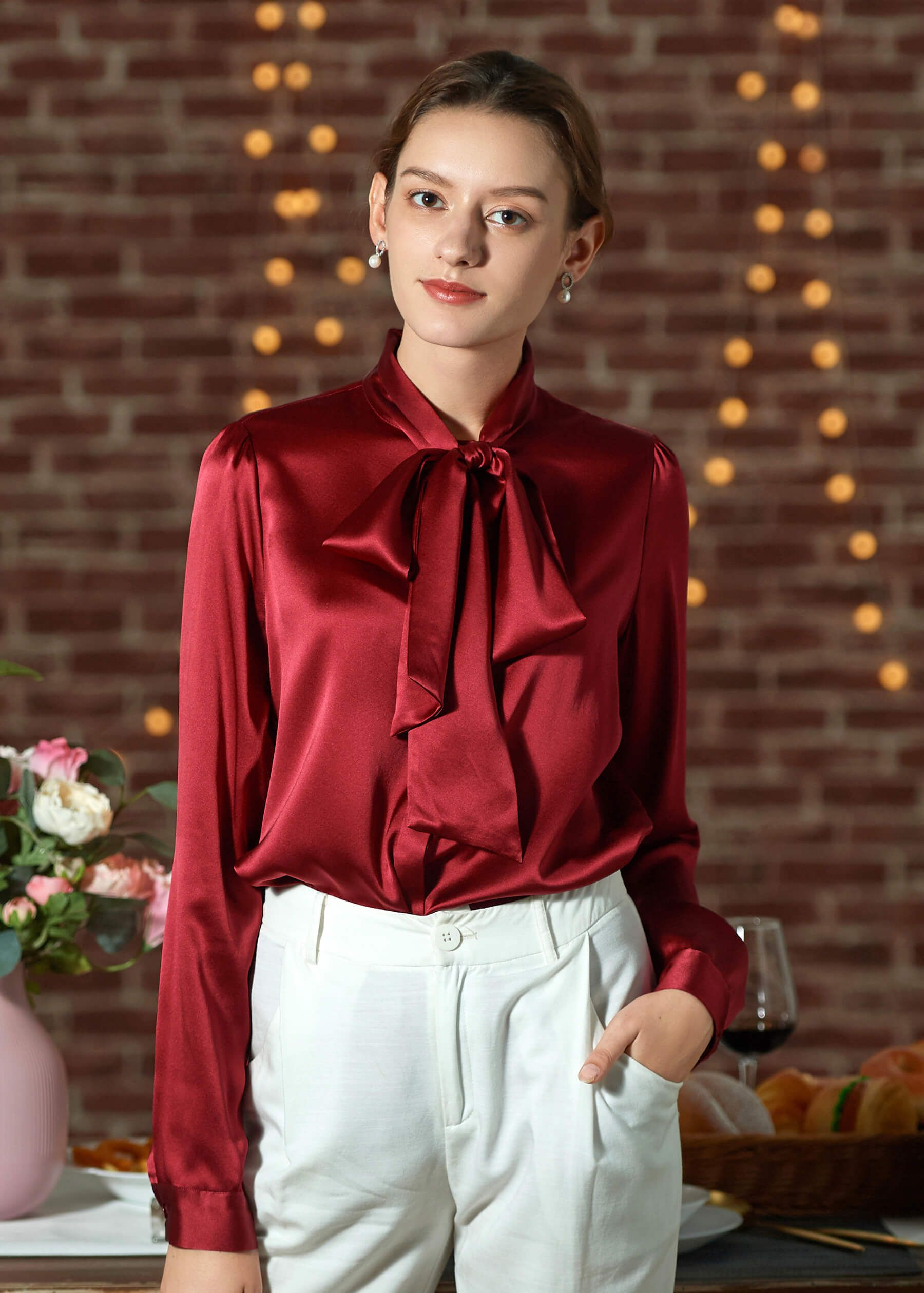06b02203dfd2ad A silk blouse that makes you look stunning, with the great natural sheen of  silk
